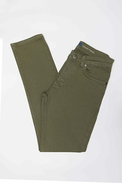 Jakamen Erkek Yeşil Slim Fit Kot Pantolon
