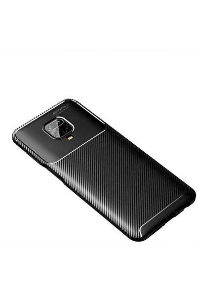 Fibaks Xiaomi Redmi Note 9 Pro Kılıf Rugged Armor Negro Karbon Silikon