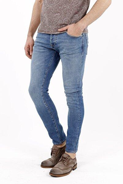 Jakamen Mavi Slim Fit Kot Pantolon 5 Cep