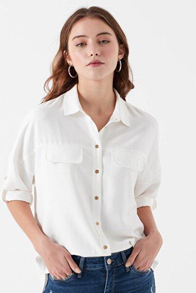 Cepli Gömlek  Kırık Beyaz