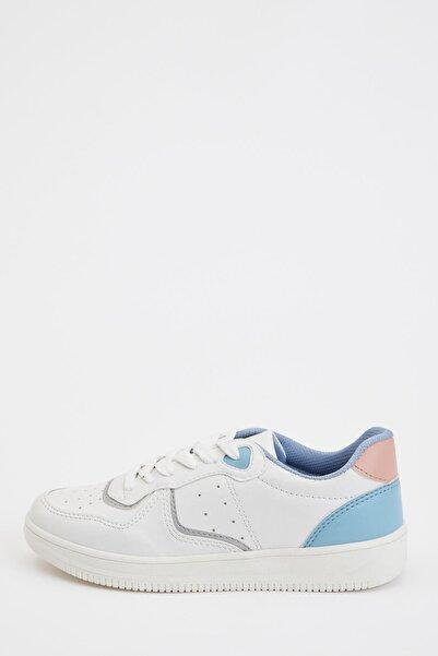 DeFacto Kadın Beyaz Bağcıklı Sneaker Spor Ayakkabı S0816AZ20AU