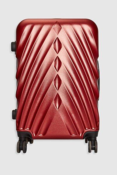 LC Waikiki Kadın Koyu Kırmızı Valiz & Bavul 0SP979Z8