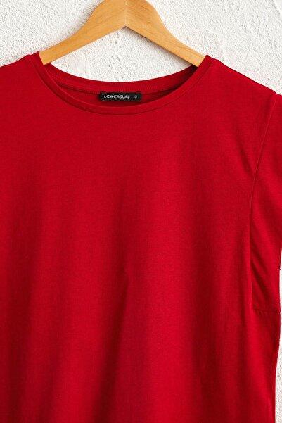 LC Waikiki Kadın Kırmızı Tişört 0SBH35Z8