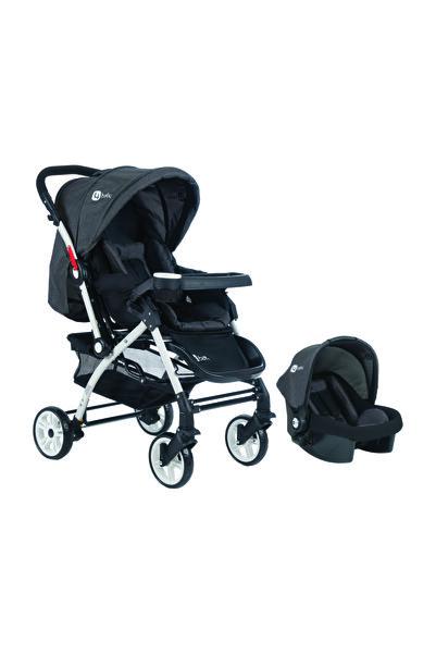 4 Baby Siyah Active Travel Sistem Bebek Arabası