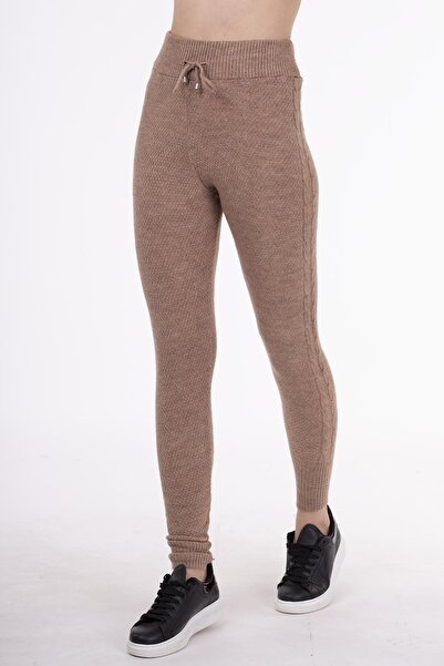STAMINA Kadın Kahverengi Stamina Premium Pantolon-4ız07