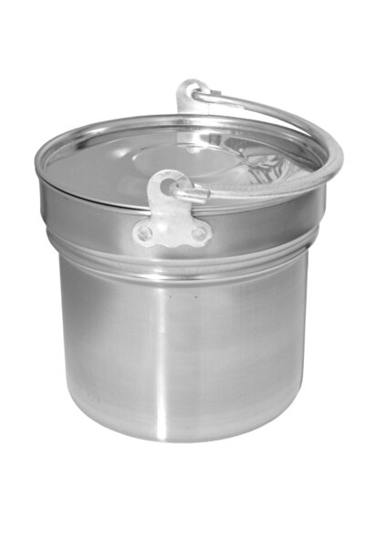 e360 Kapaklı Krom Süt - Yogurt Kovası 3lt