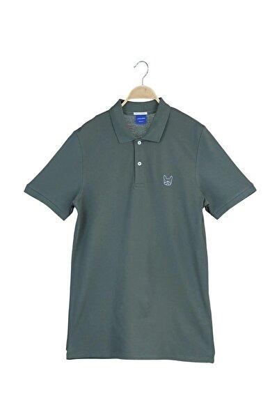 Jack & Jones Erkek Haki Polo Yaka  Cobana Originals SS T-Shirt
