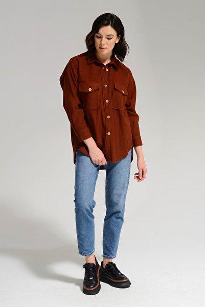 Batik Kadın Kiremit Gömlek