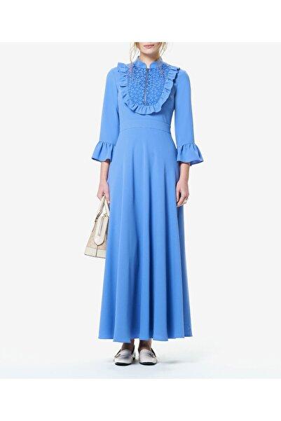 Aker Kadın Mavi Güpürlü Elbise T44139045