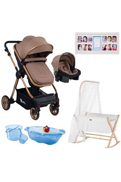 TURNAHOME Bebek Premıum Paket 29  Bebek Arabası Puset Anne Yanı Beşi 5li Banyo Seti Ayak İzli Bebek Albümü