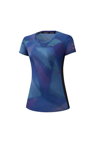 MIZUNO Kadın Lacivert Spor T-Shirt
