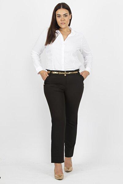 Şans Kadın Kahve Klasik Kumaş Pantolon 65N19366