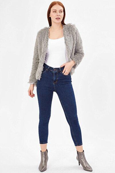 Arma Life Kadın Yüksek Bel Basic Pantolon - Orta Mavi