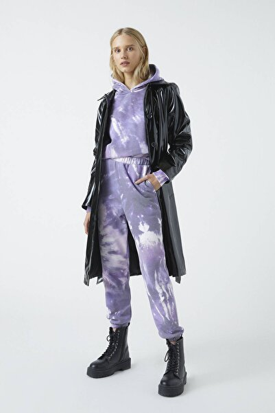 Pull & Bear Kadın Renkli Mor Batik Jogger Pantolon 09678334