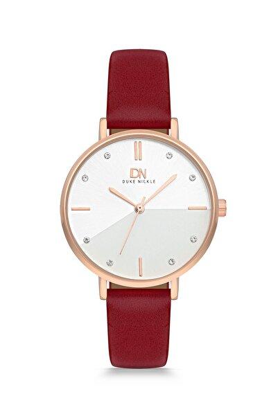 Duke Nickle Dba1022 Kadın Kol Saati Deri Kırmızı