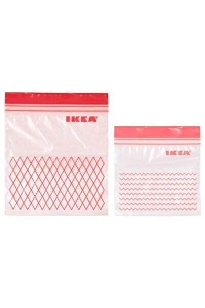 IKEA Istad Kilitli Buzdolabı Poşeti Ikea 60 Adet Kırmızı