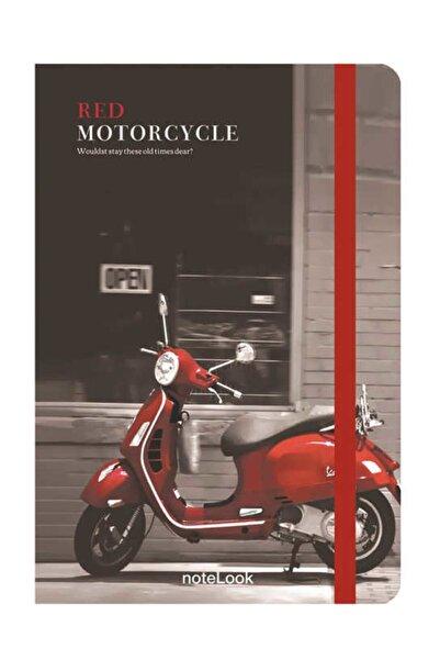 Scrikss Motorcycle Çizgili Defter A5 100 Yaprak