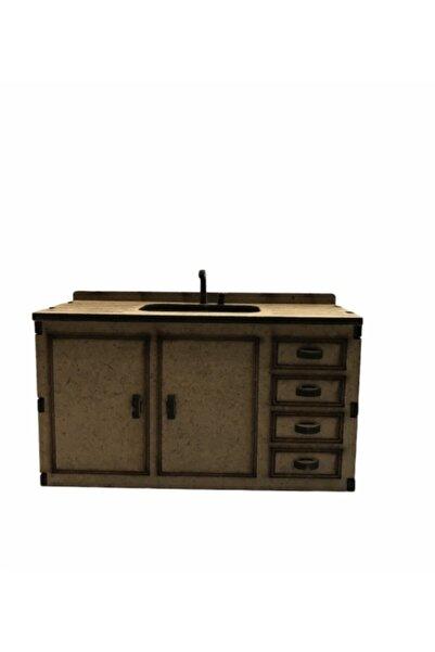 Karin Boyanabilir Ahşap Mutfak Tezgahı Mini Obje Mn25