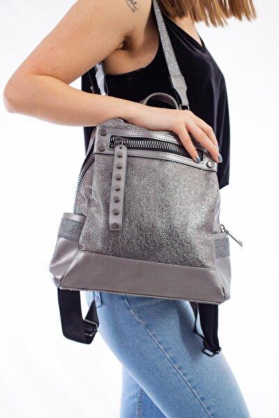 Limoya Bags Kadın Maggie Gri Sırt Çantası