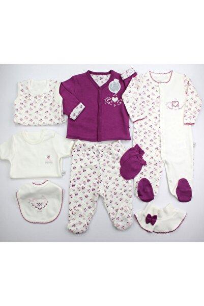 İmaj Kız Bebek  Mor Kalp Desenli Hastane Çıkışı 8'li