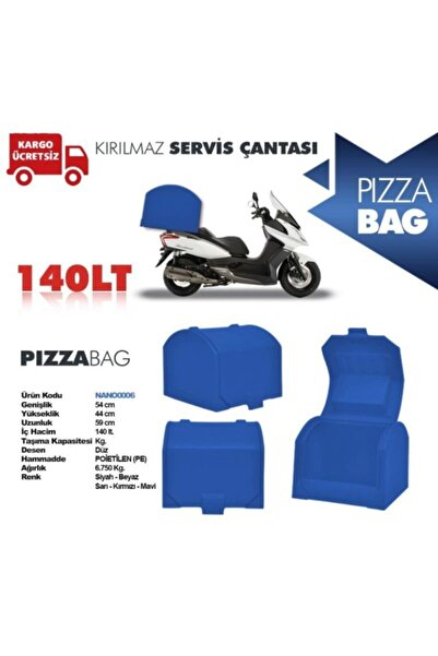Gcotomotiv Motorsiklet Pizza Çantası Taşıma Çantasızmav