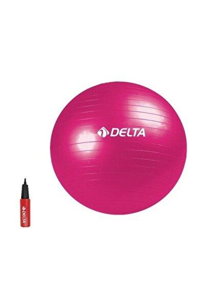 Delta 55 cm Fuşya Deluxe Pilates Topu + 25 cm Çift Yönlü Pompa