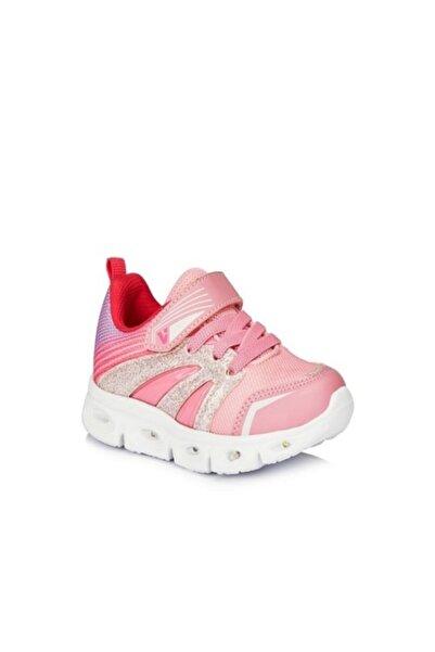 Vicco Kız Çoçuk Pembe Samba Işıklı  Spor Ayakkabı