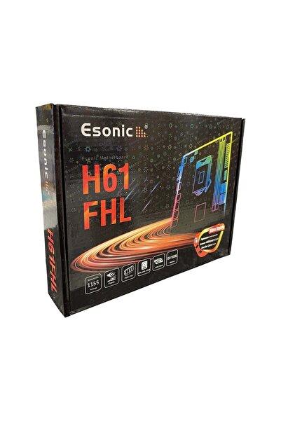 ESONIC H61 Fhl Lga 1155 Pin 2x Ddr3 1333 Mhz Usb 3.0 Kutulu Anakart