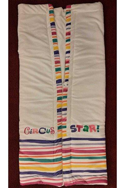 Baby Center Bebek Beyaz Renkli Kadife Battaniye