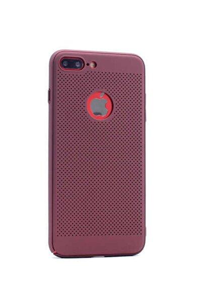 HTstore Apple Iphone 7 Plus Kılıf Zore 360 Delikli Rubber-bordo