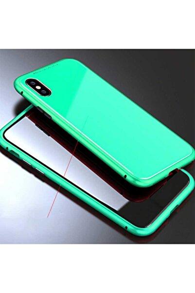 HTstore Apple Iphone X Kılıf Voero 360 Magnet Case-turkuaz