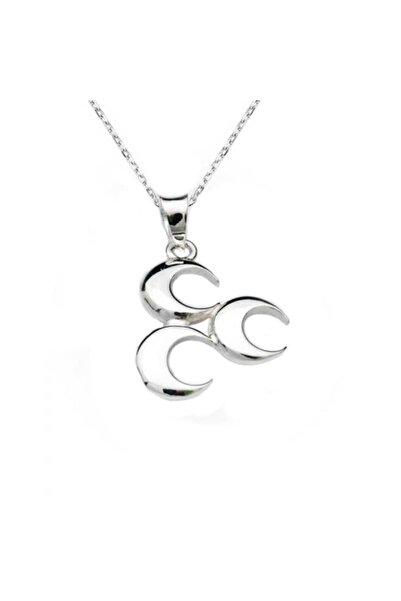 Silverplus Kadın Gümüş Üç Hilal Kolye 768