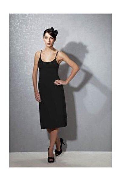 Kadın Modal Siyah Askılı Jüpon Kombinezon 11129
