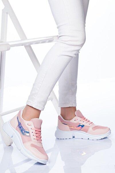 derithy Kadın Pudra Sneaker