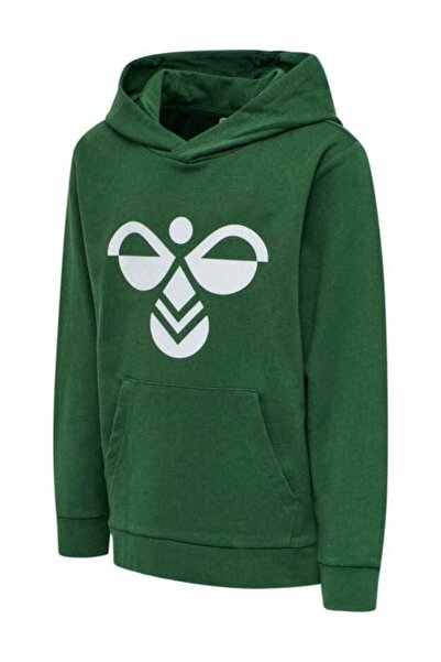 HUMMEL Unisex Çocuk Yeşil Cuatro Hoodie Sweatshirt 204743-6717