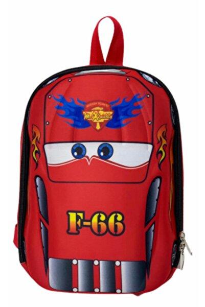 ŞEHRİBAG Kırmızı Anaokulu Çocuk Sırt Çanta Yarış Arabası 4 5 6 7 Yaş 5d Boyutlu Su Geçirmez