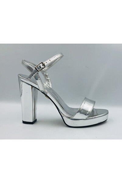 PUNTO Gümüş Platform Kadın Ayakkabı