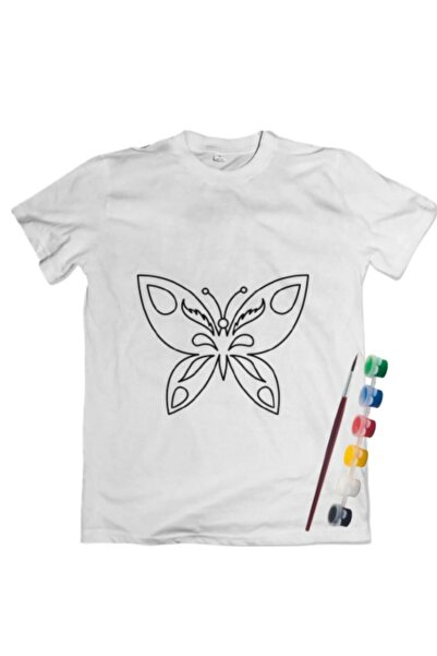 Joy and Toys Kelebek Desenli T-shirt Boyama Seti 6-7 Yaş Çocuk Aktivite
