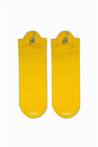 CARNAVAL SOCKS Muz Bilek Nakışlı Desenli Patik Spor Çorap