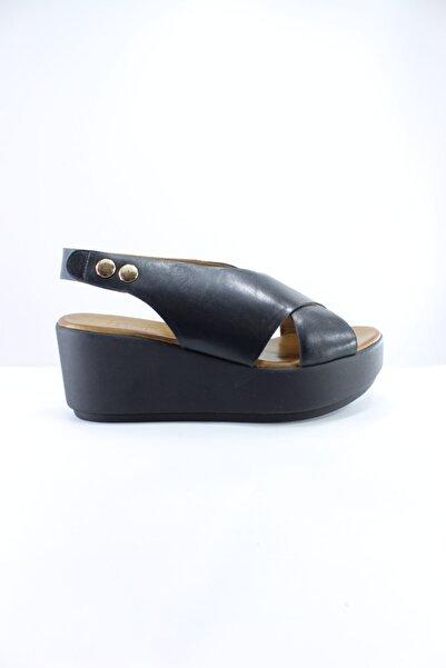 İnci Hakiki Deri Sandalet