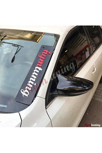 HYM TUNİNG Volkswagen Jetta Mk6 2011-2014 Yarasa Ayna Kapağı, Parlak Siyah