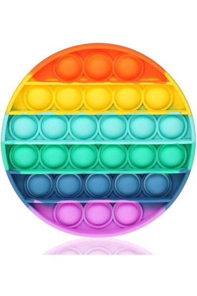 Başel Toys Push Bubble Fidget Özel Pop Duyusal Oyuncak Zihinsel Stres Yuvarlak Renkli