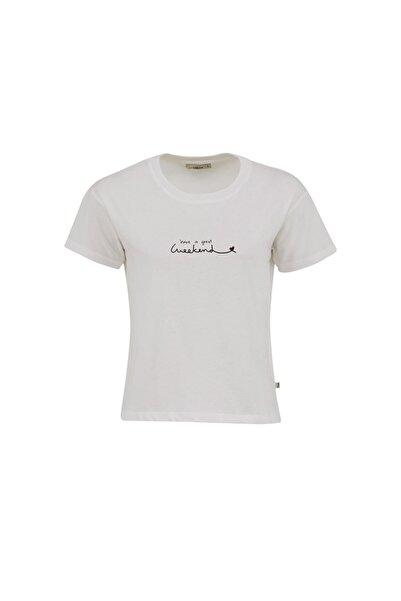 Ltb Kadın BEYAZ T-SHIRT  012218014660890000