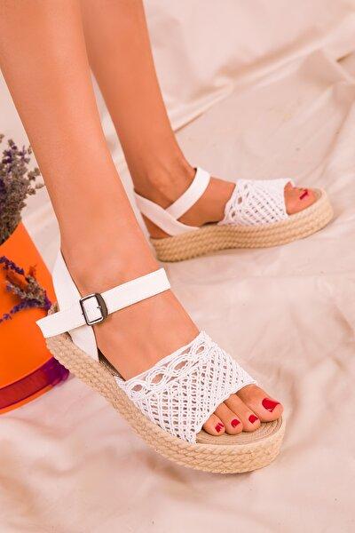 SOHO Beyaz Kadın Sandalet 16042