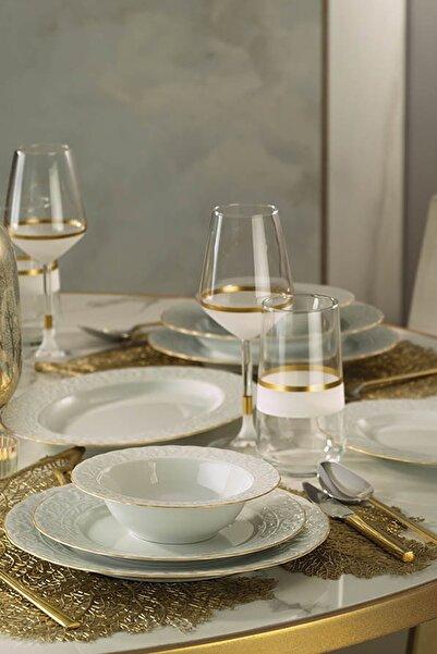 Kütahya Porselen Başak Altın Fileli Yemek Takımı 51 Parça