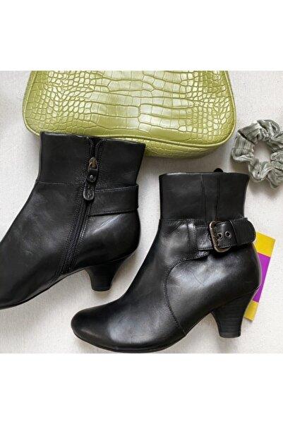CLARKS Kadın Sıyah Klasık Topuklu Ayakkabı Kımpton Dapple Bayan