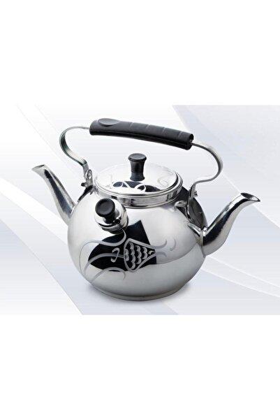 EARABUL Alüminyum Lüks Kamp Çaydanlığı - Süzgeçli Demlik - Çift Taraflı Işlemeli Piknik Çaydanlık Seti 2,5 L