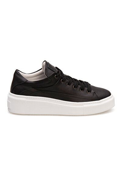 Pegia Kadın Siyah Hakiki Deri Sneaker La1603