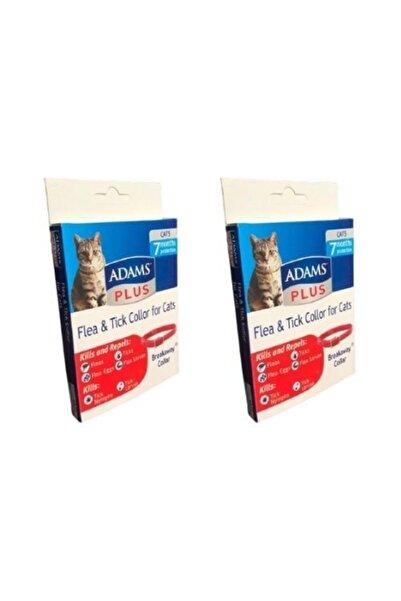 Adams Kedi Pire Kene Ve Dış Parazit Koruma Kedi Tasması 42 cm  2 Adet