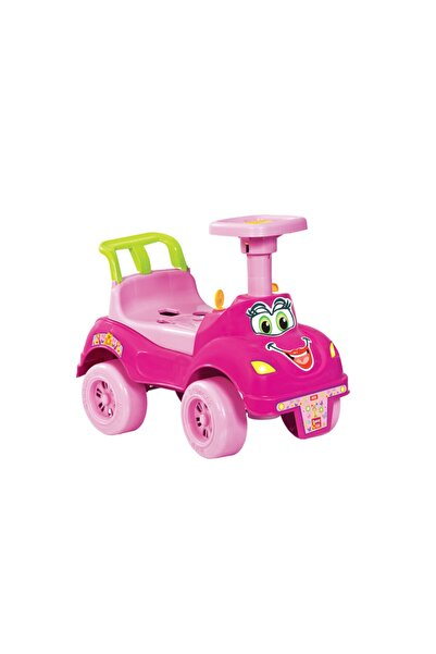MGS OYUNCAK Mgs Benim Ilk Arabam Geliştirici Oyuncak Yürümeye Yardımcı Pedalsız Oyuncak Araba-pembe